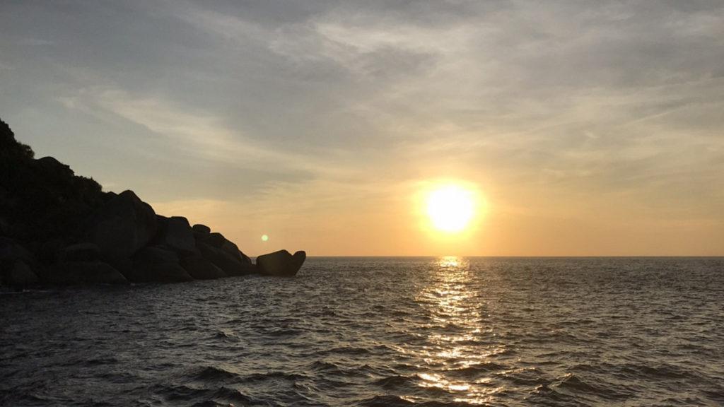 2020/02/07 シミラン諸島の夕陽