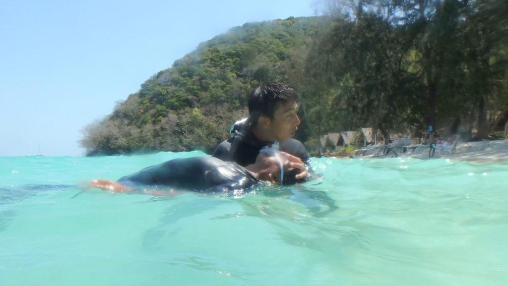 水面の曳航