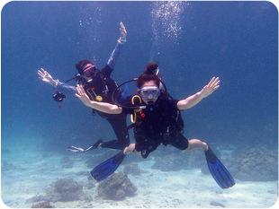 ラチャヤイ島の体験ダイビング