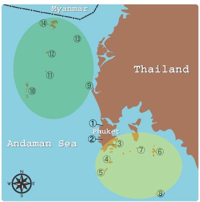 アンダマン海のマップ