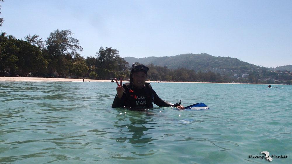 カタビーチ ダイビング