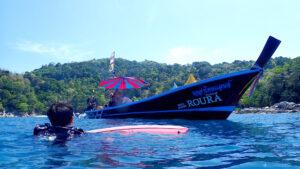 ロングテールボートダイビング プーケット