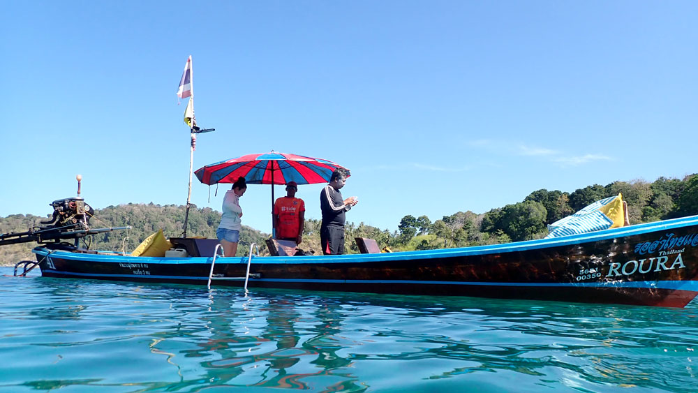 プーケット ロングテールボートダイビング